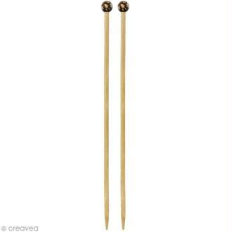 Aiguille à tricoter bambou - 9 mm - 1 paire