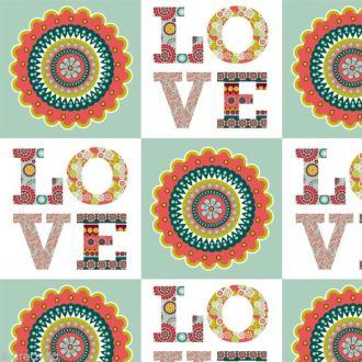 Tissu Artemio - Oldies Love - A la coupe par 10 cm (sur mesure)
