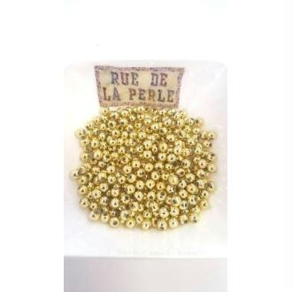 200 Perles en résine doré 4mm