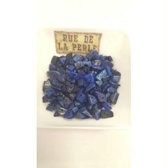 30g Chips de lapis lazulli , percées - perles gemmes