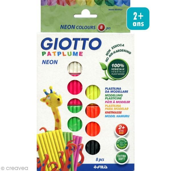 Pâte à modeler Patplume Giotto - Assortiment néon - 8 x 33 gr - Photo n°1