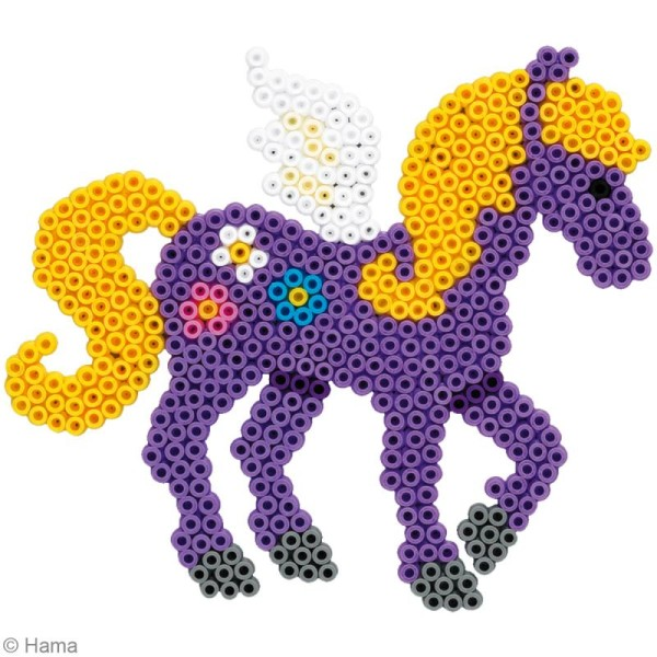 Perles Hama midi diam. 5 mm - Coffret Les chevaux magiques x 4000 - Photo n°3