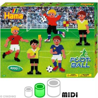 Perles Hama midi diam. 5 mm - Coffret Football x 4000