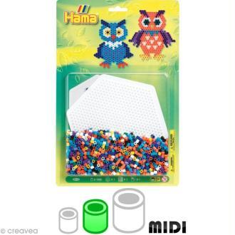 Kit Perles Hama midi diam. 5 mm - Chouette x 1100