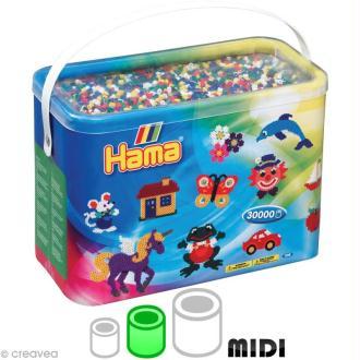 Perles Hama Midi diam. 5 mm - Assort. Mixte 6 couleurs x 30000