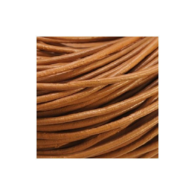 Cordon de cuir 2mm marron caramel vendu au m tre cordon cuir creavea - Cuire marron au four ...