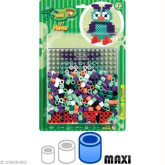 Kit Perles Hama Maxi diam. 1 cm - Chouette x 250