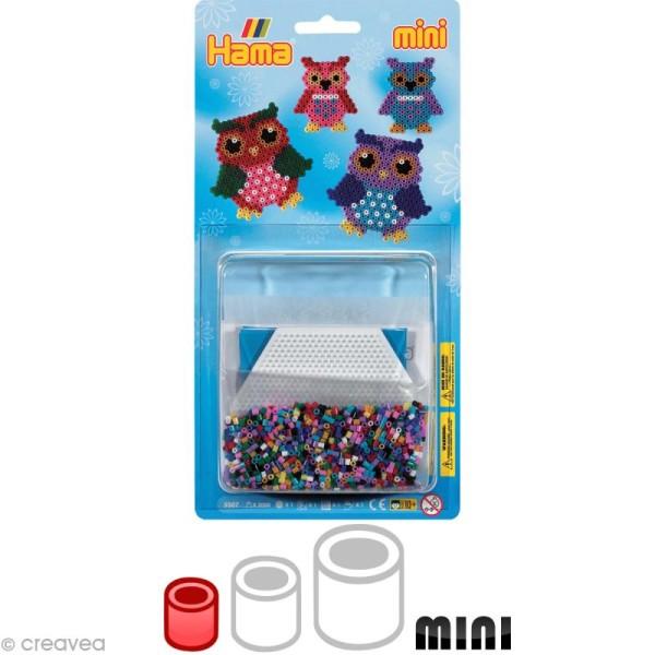 Kit Perles Hama mini diam. 2,5 mm - Hiboux x 2000 - Photo n°1