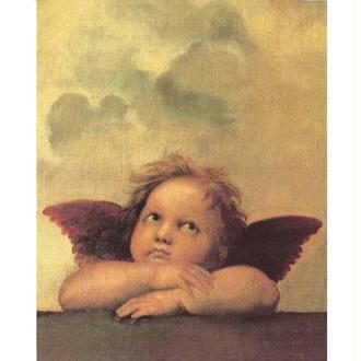 Image 3D Décor - Ange Raphael de face 24 x 30 cm