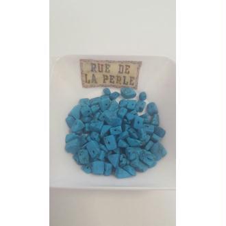 30g Chips de turquénite bleu turquoise , percées - perles