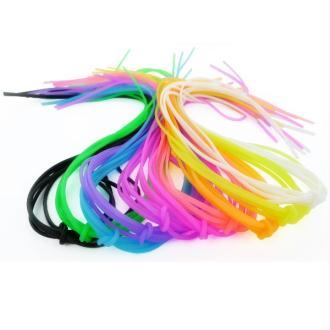 Scoubidous en silicone Mix 10 couleurs - Sachet de 50 pièces