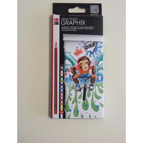 12 Crayons de couleur aquarelle - Photo n°2