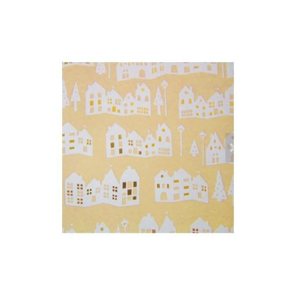 Papier cadeau, décoration Noël - Lot de 5 rouleaux, 5 motifs - Collection: Golden Season - Photo n°2