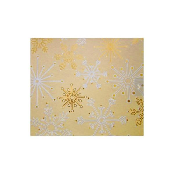 Papier cadeau, décoration Noël - Lot de 5 rouleaux, 5 motifs - Collection: Golden Season - Photo n°3