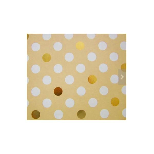 Papier cadeau, décoration Noël - Lot de 5 rouleaux, 5 motifs - Collection: Golden Season - Photo n°4