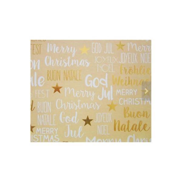 Papier cadeau, décoration Noël - Lot de 5 rouleaux, 5 motifs - Collection: Golden Season - Photo n°5