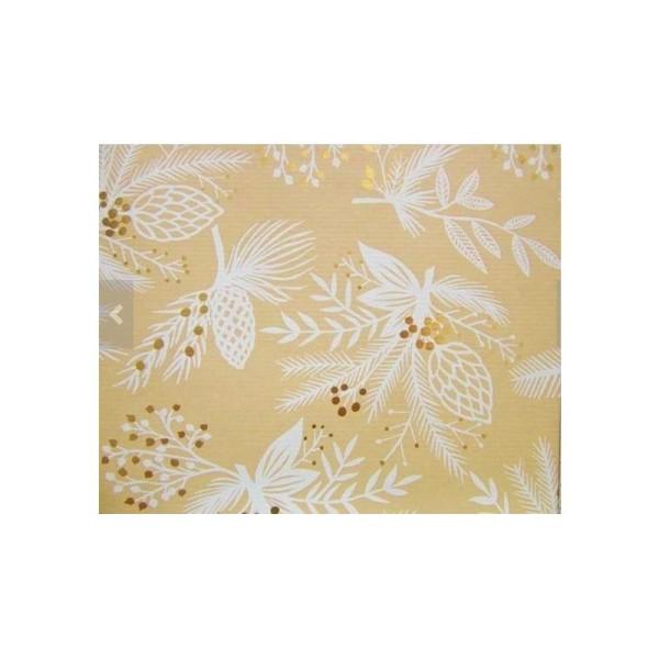 Papier cadeau, décoration Noël - Lot de 5 rouleaux, 5 motifs - Collection: Golden Season - Photo n°1