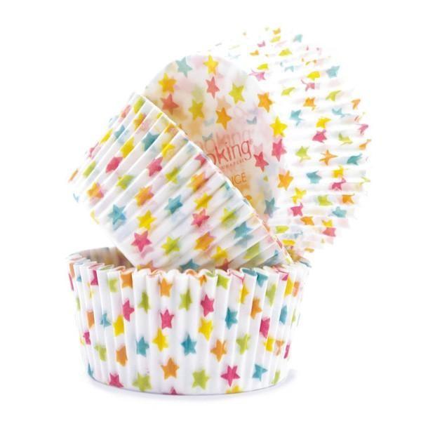 Caissettes pour cupcakes Etoiles - Photo n°1