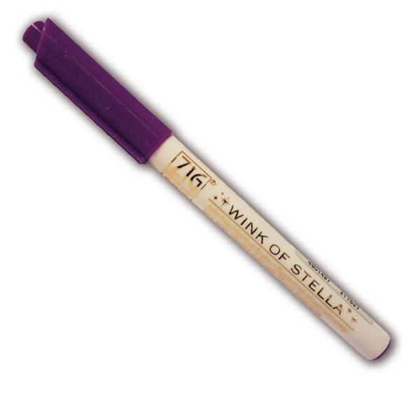 Marqueur à paillettes - Violet - Photo n°1