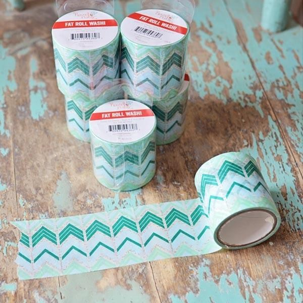 Washi Tape large - bleu turquoise - Photo n°1