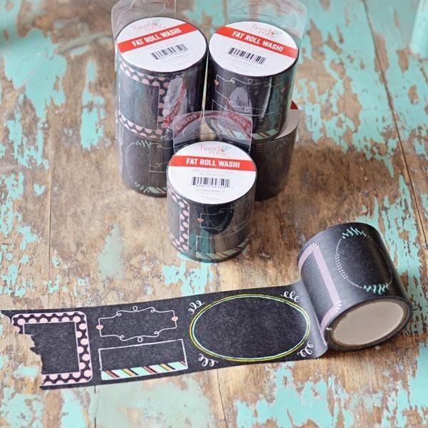 Washi Tape large - noir à motifs - Photo n°1