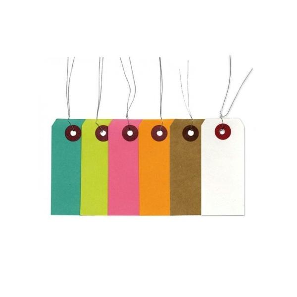 Etiquettes Kraft-Blanches-Couleur - Photo n°1