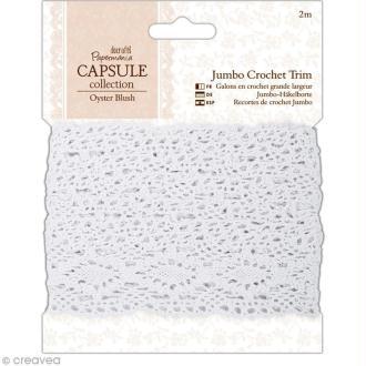 Dentelle au crochet - Oyster blush - 3,7 cm x 2 mètres