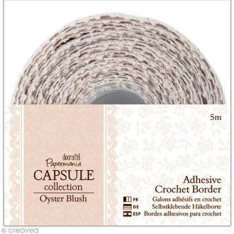 Lace tape dentelle Oyster blush 15 mm x 5 mètres