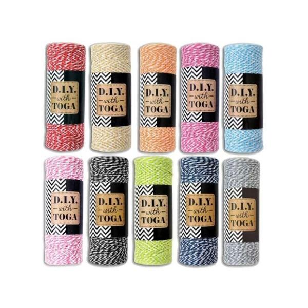 Kit 10 ficelles multicolores 100 m - Photo n°1