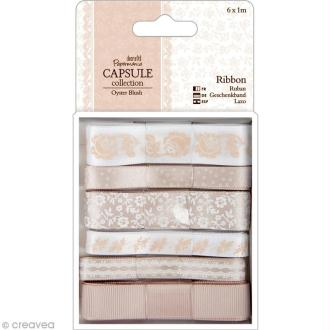 Ruban scrapbooking Papermania - Oyster blush - 6 x 1 m