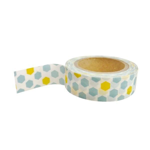 Masking tape avec motifs bleus et jaunes - Photo n°1