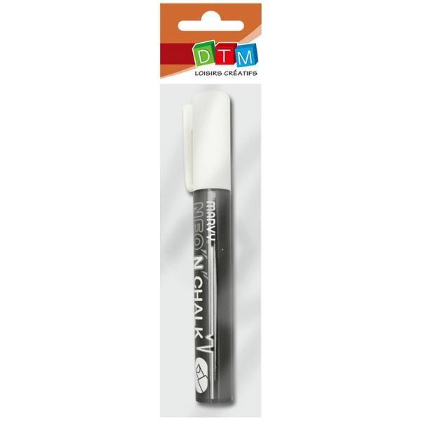 Marqueur-craie 6 mm - Blanc - Photo n°1