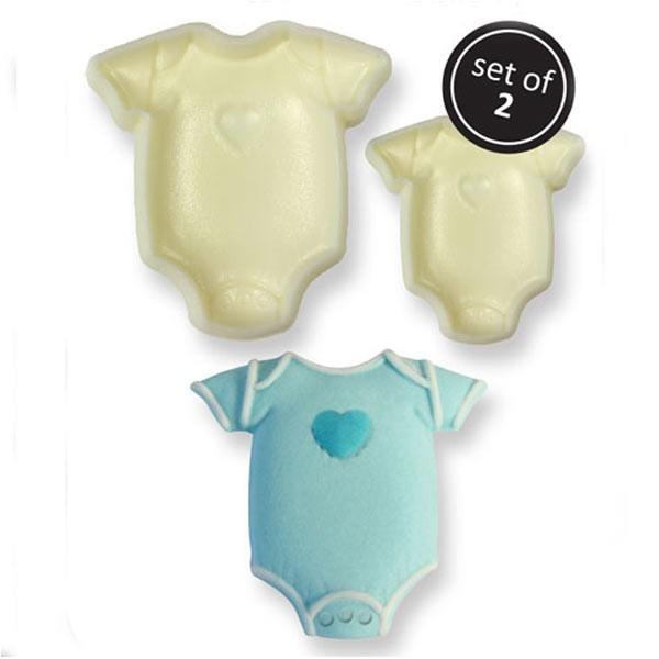 Moules pâte à sucre x 2 - Body de bébé - Photo n°1