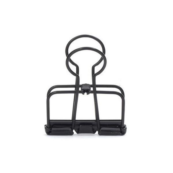 Pinces double-clip x 6 - noir - Photo n°1