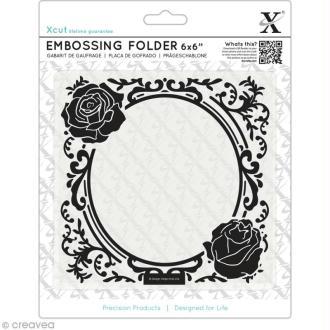 Classeur de gaufrage - Cadre rose - 15,2 x 15,2 cm