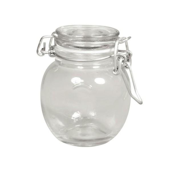 Bocal verre avec couvercle - Photo n°1
