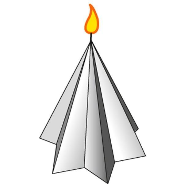 Moule à bougie étoile - hauteur 8 cm - Photo n°1