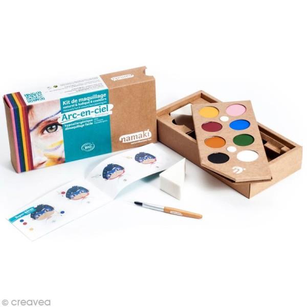 Kit de maquillage bio Arc en Ciel - 8 couleurs - Photo n°2