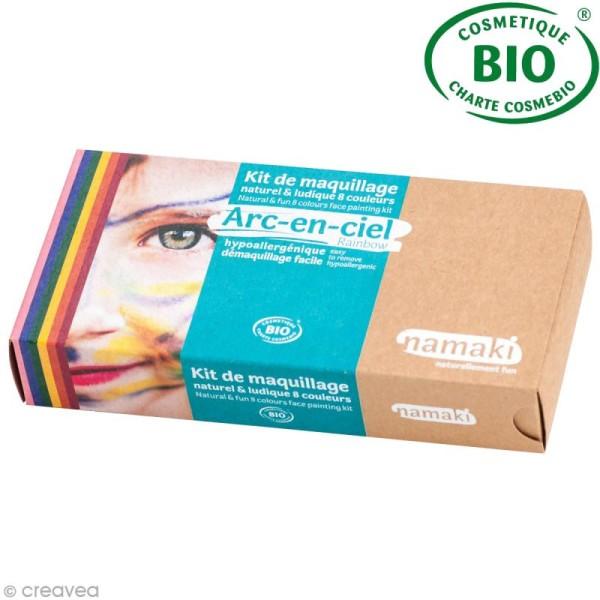 Kit de maquillage bio Arc en Ciel - 8 couleurs - Photo n°1