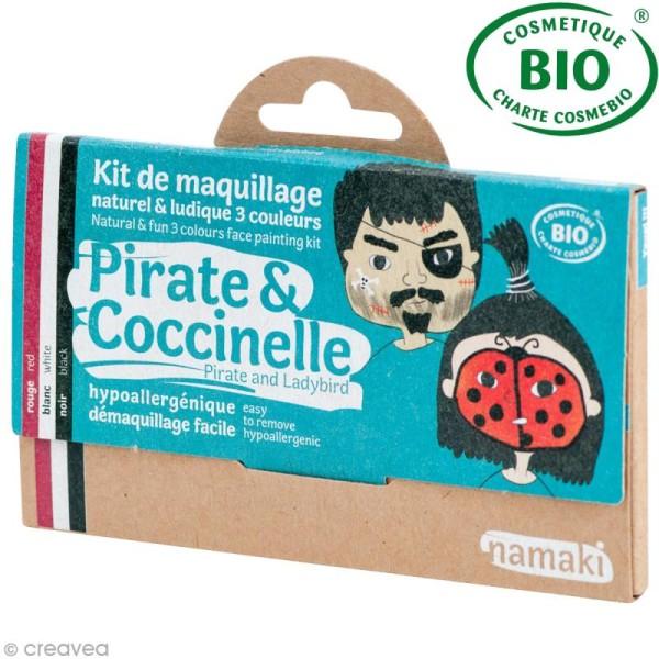 Kit de maquillage bio Pirate et coccinelle - 3 couleurs - Photo n°1