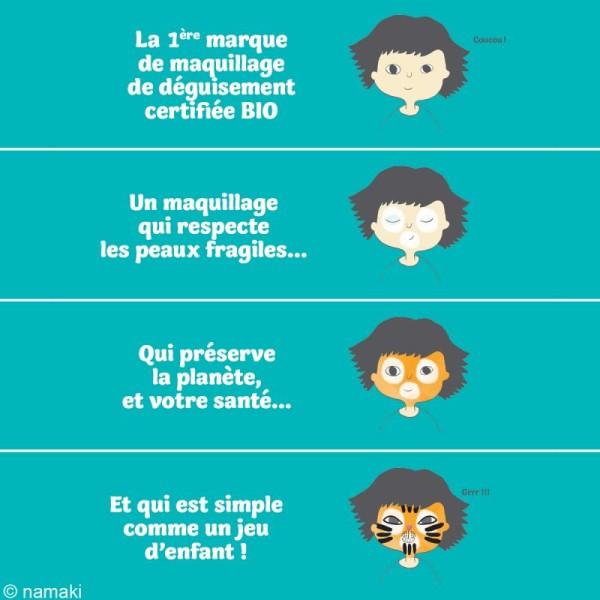 Kit de maquillage bio Monde des horreurs - 8 couleurs - Photo n°4