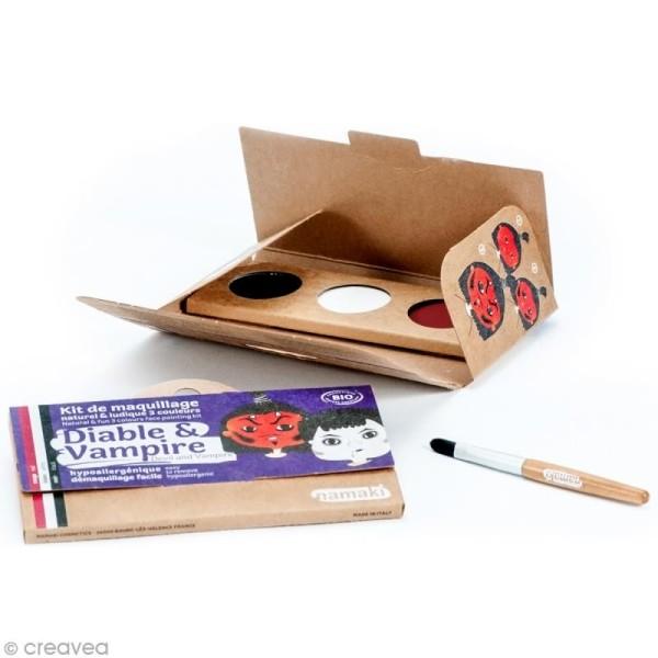 Kit de maquillage bio Diable et vampire - 3 couleurs - Photo n°2