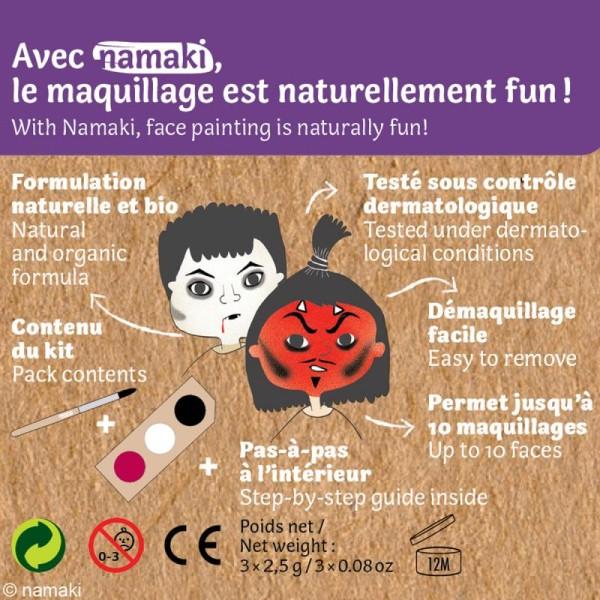 Kit de maquillage bio Diable et vampire - 3 couleurs - Photo n°3
