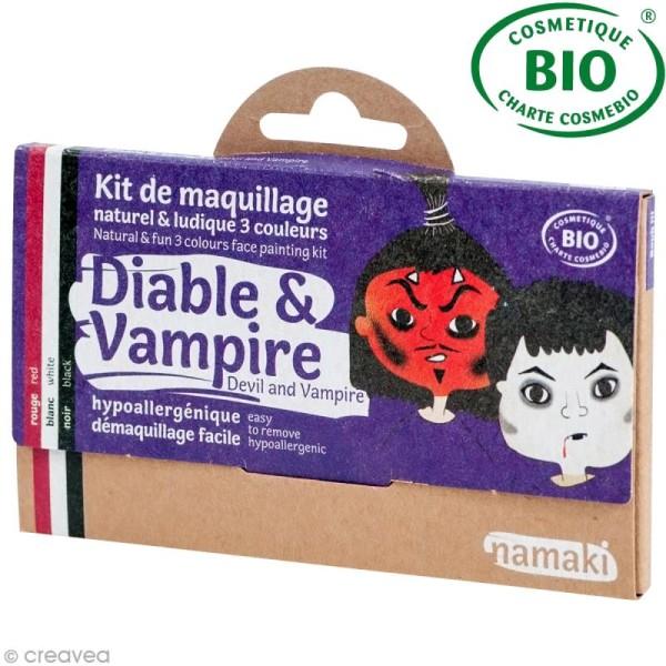 Kit de maquillage bio Diable et vampire - 3 couleurs - Photo n°1