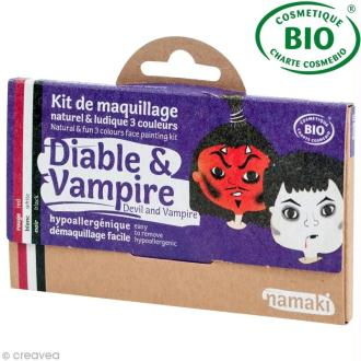 Kit de maquillage bio Diable et vampire - 3 couleurs