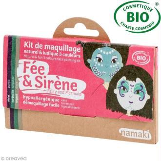 Kit de maquillage bio Fée et sirène - 3 couleurs