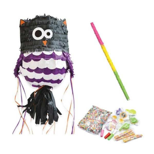 Coffret Piñata Chouette et ses surprises + bâton - Photo n°1