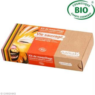 Kit de maquillage bio Vie sauvage - 8 couleurs