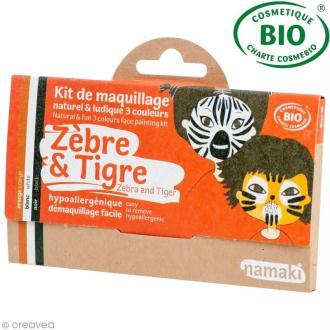 Kit de maquillage bio Zèbre et tigre - 3 couleurs