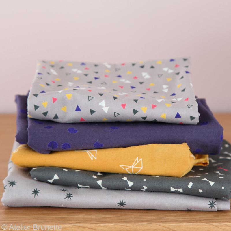 Tissu Atelier Brunette Overnight - Candy Flakes - Par 10 cm (sur mesure) - Photo n°5